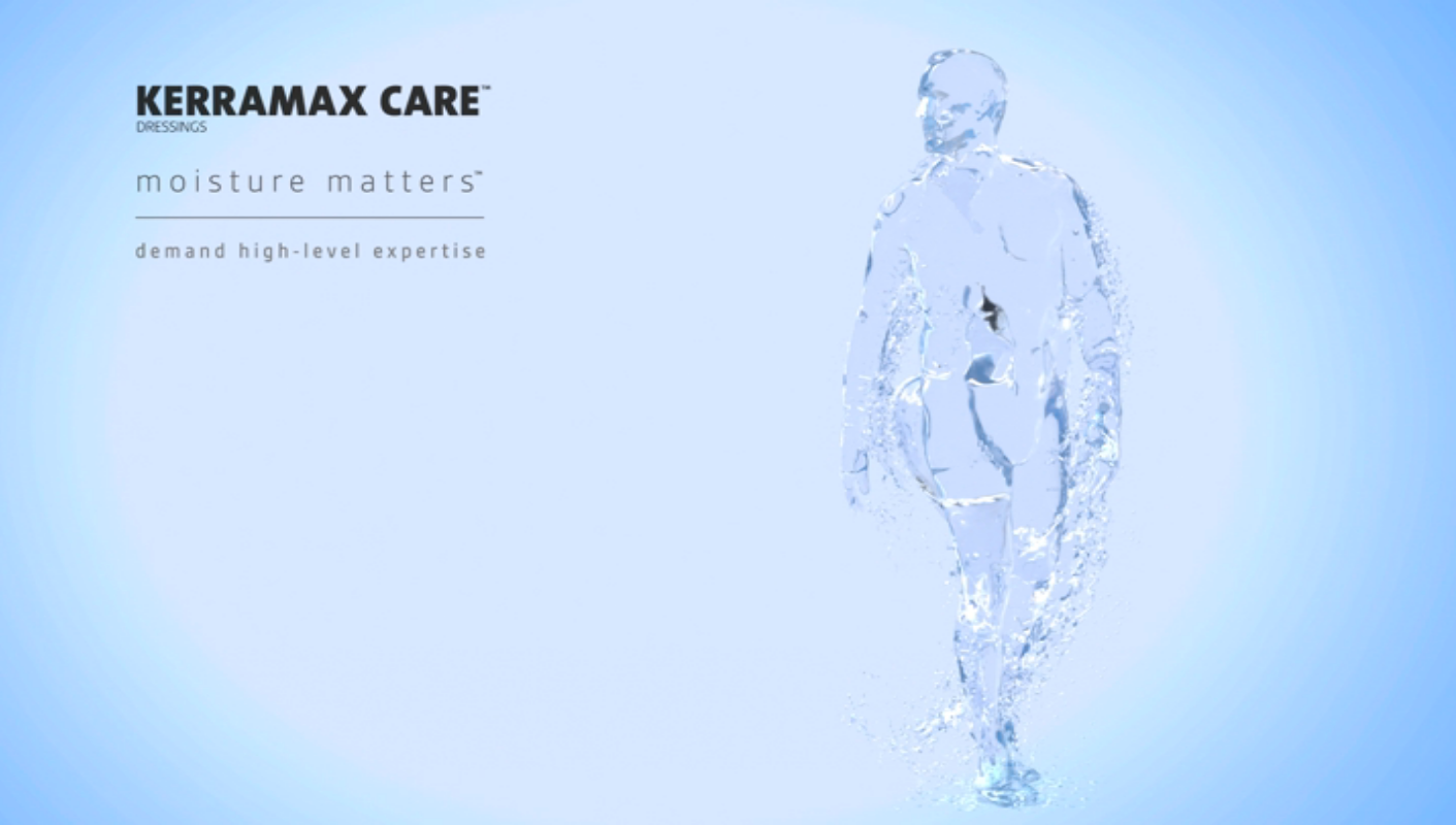 KERRAMAX CARE Super-Absorbent Dressing Animation 3M+KCI